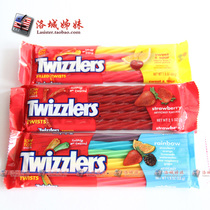 """美剧""""暮光之城""""多滋乐Twizzlers扭扭吸管糖蜡烛彩虹糖 单包怪味 价格:12.00"""