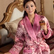 特价包邮加厚夹棉女士冬季睡袍睡衣女浴袍珊瑚绒夹棉冬季睡袍 价格:135.00