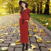 2013 秋装新款韩版女装长袖连衣裙毛织连衣裙长款气质打底裙 羊毛 价格:159.00