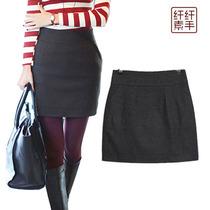 韩版毛呢短裙子冬装秋冬新款大码女装加厚打底显瘦半身裙呢子女 价格:39.00