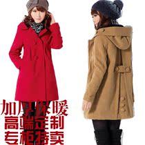 【天天特价】2013秋冬新款中长款羊毛呢大衣女款韩版修身呢子外套 价格:129.00