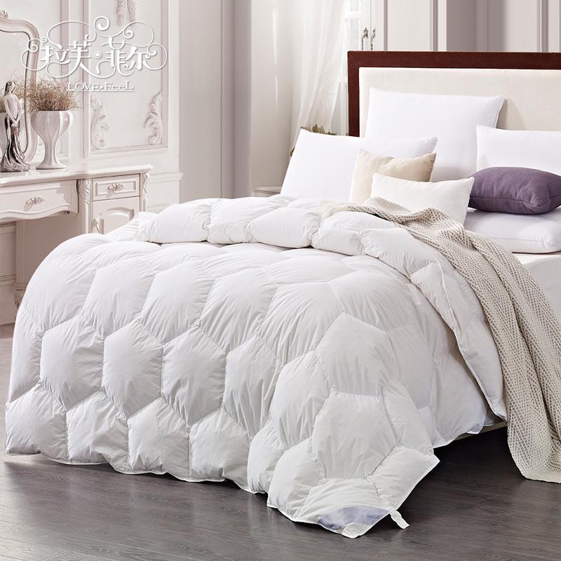 95%白鸭绒被全棉长绒棉加厚防钻绒羽绒被子保暖秋冬被芯单双人被 价格:997.60
