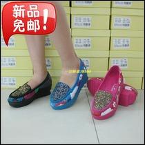 正品 美之美2013秋款坡跟厚底单鞋压花真皮欧美潮流高跟女鞋95007 价格:225.00