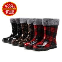 2013台湾精品雨鞋加绒保暖棉鞋雨鞋 时尚水鞋甜美加绒内里可拆 价格:38.00