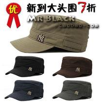 大头围帽子 新款 韩版韩国潮 纽约洋基男式男士帽子 平顶帽军帽 价格:18.75