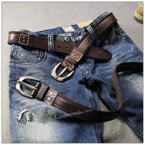 6819 绝对好货!爷们的东西~美国小鹿真皮镶嵌~男士腰带皮带 价格:68.00
