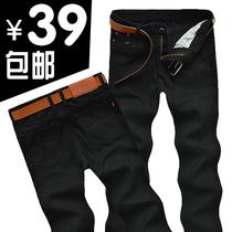 秋款中腰美特斯邦威男士直筒牛仔裤韩版男式潮宽松长裤子修身男裤 价格:39.00