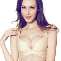 祺蕾女士无痕文胸一片式透气小胸深V胸罩 聚拢调整型内衣专柜3212 价格:39.50