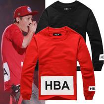 2013新款 hood by air HBA潮牌黄晓明陈冠希示范长袖纯棉长袖T恤 价格:48.00