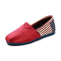 JM/快乐玛丽 春夏新款套脚帆布鞋 时尚朋克低帮条纹女鞋潮61053W 价格:139.00
