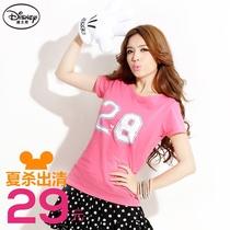 桔熊{KD0215}夏装迪士尼28数字短袖女士t恤女�b上衣大码S~2L 价格:29.00