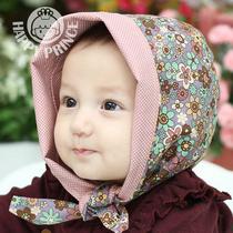 韩国进口纯棉宝宝婴儿童头巾包头帽两面双用帽子秋冬帽包头帽胎帽 价格:53.00