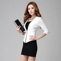 2013夏装新款OL高档职业装女装套裙套装时尚修身韩版工作服女 价格:228.00