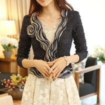 新款2013秋装女装韩版春秋开衫蕾丝大码外套秋小外套女长袖短外套 价格:98.00