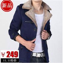 杰克琼斯男羊绒呢大衣男毛呢外套韩版呢子大衣加大码冬装外套32 价格:249.00
