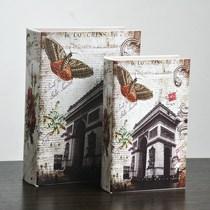 凯旋门  收纳书盒 皮书 假书 装饰品 摆件 创意礼品 价格:29.00
