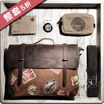 潮男包2013新款英伦复古帆布包 手提斜挎单肩背包韩版邮差包休闲 价格:197.90