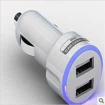 发光双USB手机万能车载充电器苹果三星汽车点烟器式usb车充包邮 价格:26.00
