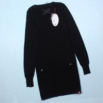 秋冬新款EDc中长款针织衫修身百搭显瘦圆领大码细线毛衣 价格:39.90