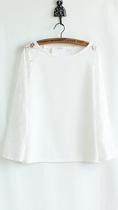 2013 韩国风 秋装新款韩版长袖拼接蕾丝镂空袖 白色雪纺百搭上衣 价格:29.00