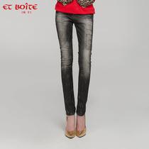 牛仔小脚裤 法文箱子Et Boite E3A013 秋新款复古做旧补丁铅笔裤 价格:582.00