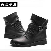 2013新款春秋季英伦马丁靴女短靴女真皮平跟女靴坡跟学生靴子套筒 价格:198.00