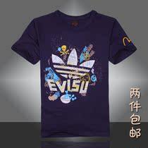 2013新款陈冠希CLOT日本潮牌福神 三叶草Evisu 短袖T恤男 有3XL码 价格:49.80