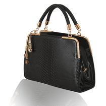 2013简约时尚编织手带女包定型包PU包蛇皮纹手提包单肩包斜挎包 价格:68.00