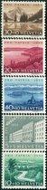 F1941瑞士1955桥及山水风景附捐5全 价格:55.00