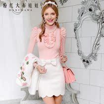 毛衣 女粉红大布娃娃秋装新款淑女修身高领打底毛衣 女装套头毛衣 价格:176.00