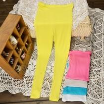 夏款孕妇女装莫代尔纯棉夏天装时尚打底裤荧光九分长裤薄长款调节 价格:45.00