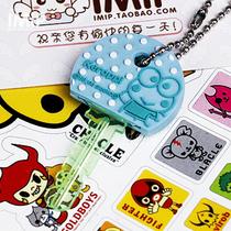 出口原单日本三丽鸥 大眼蛙可洛比 Kitty朋友 可爱卡通钥匙套挂件 价格:5.50