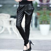 品质精品休闲裤显瘦女装哈伦裤子 风格 黑色拼接 裤长 2012冬正品 价格:106.00