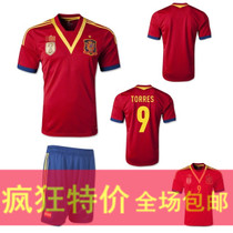 极品泰版西班牙球衣/足球服队服 Spain 13/14 Home Soccer Jersey 价格:38.00