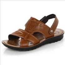 2013夏季新款卡力红蜻蜓男沙滩鞋真皮正品凉鞋凉拖皮凉鞋凉皮鞋 价格:99.00