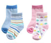 美国Luvable Friends 品牌婴幼儿童袜纯棉袜一组二双正品假一赔百 价格:15.00