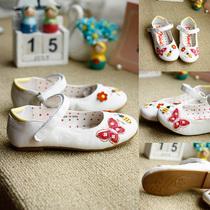 英国NE*T原单白色春天花园小花蜜蜂蝴蝶贴花单鞋公主鞋QT349 价格:69.00