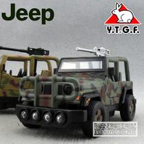 1:32 声光版 良友仿美国JEEP军用吉普车开蓬牧马人 合金汽车模型 价格:22.00