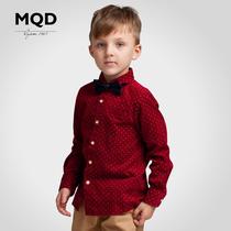MQD男童长袖衬衫2013新款秋装儿童长袖衬衫 男童宝宝衬衫 潮 纯棉 价格:159.00