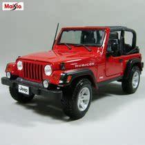 美驰图 牧马人汽车模型 1: 18 Jeep  吉普撒哈拉 敞篷红色 合金 价格:154.80