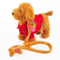 正品牵绳狗儿童玩具电动毛绒玩具狗音乐机器狗遥控狗狗玩具宠物狗 价格:45.00