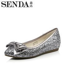 森达女鞋专柜正品单鞋2013秋季新款单鞋3K341CQ3蝴蝶结内增高 价格:298.00