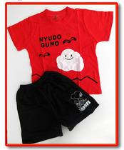 2013新款夏装纯棉白云童装宝宝套男女孩短袖短裤套装幼儿半袖 价格:19.00