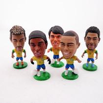 巴西国家队罗纳尔多小罗卡卡内马尔胡尔克球星人偶公仔套装 价格:6.50