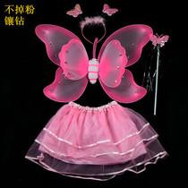 盛泉 六一儿童节表演 天使羽毛蝴蝶翅膀三件套 演出服装舞蹈 可爱 价格:4.80