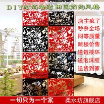 简易挂式屏风 时尚隔断墙贴 家用酒店屏风玄关门 价格:3.20