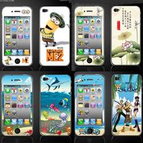 苹果iphone4/4S代 卡通膜 彩膜 闪钻膜 图案膜 手机贴膜批发 价格:3.46