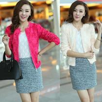 包邮女装春秋装2013新款韩版小外套女立体玫瑰花朵雪纺短外套上衣 价格:64.60