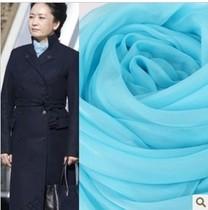 围巾 女 秋冬 韩版桑蚕丝丝巾保暖围巾披肩两用超大超长浅蓝色 价格:168.00
