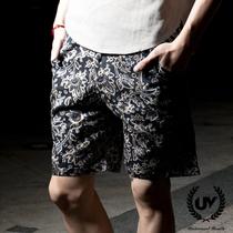 秒杀!夏季日系五分裤学院风复古民族休闲西装短裤男韩版沙滩裤 价格:33.00